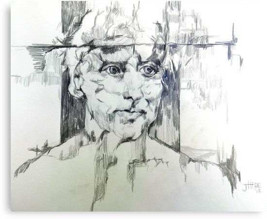 Drawing of a Man by JolanteHesse