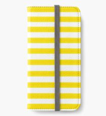 Yellow Striped iPhone Wallet/Case/Skin