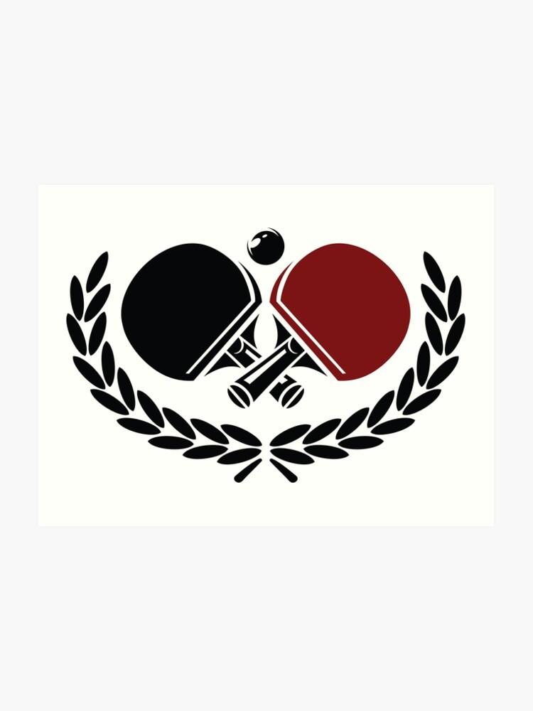 Table Tennis Logo Art Print