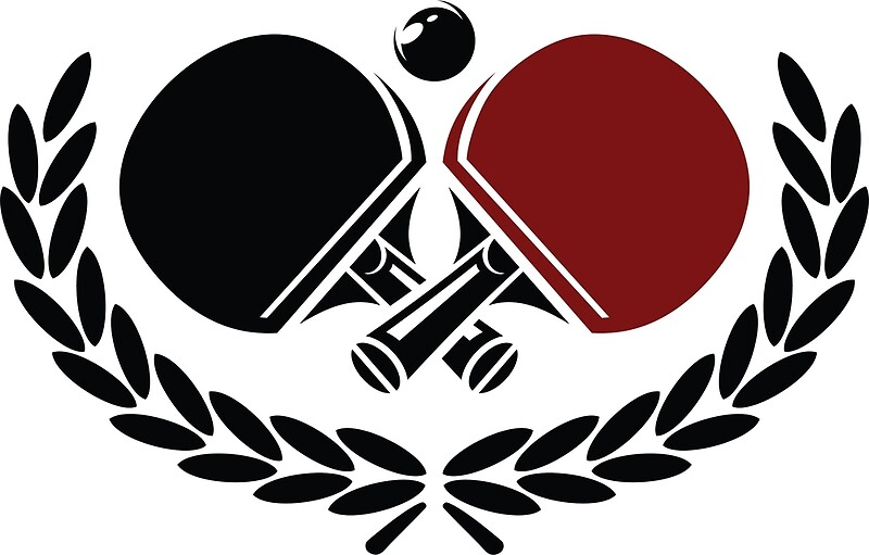 Table tennis logo posters by lisamatton redbubble for Table table logo