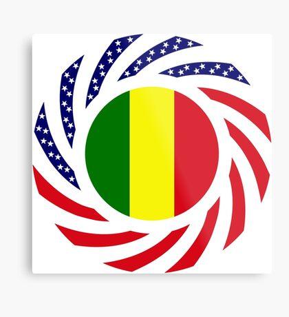 Mali American Multinational Patriot Flag Series Metal Print