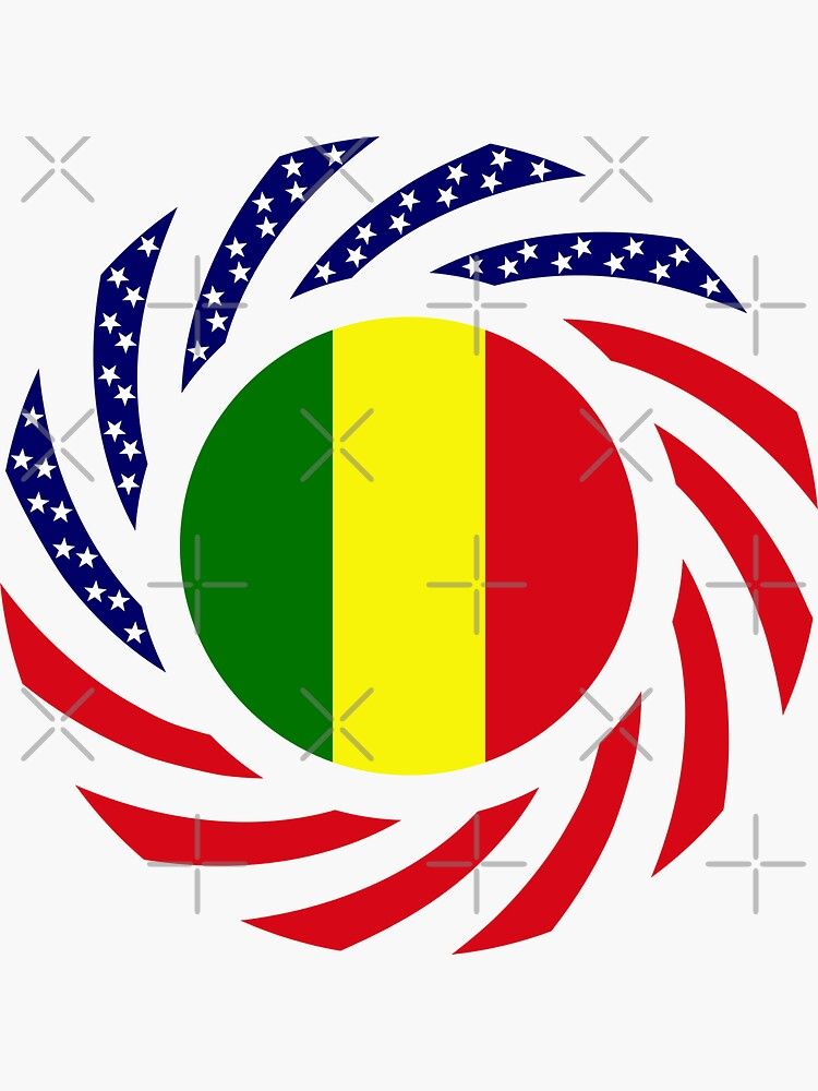 Mali American Multinational Patriot Flag Series by carbonfibreme