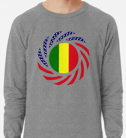 Mali American Multinational Patriot Flag Series Lightweight Sweatshirt