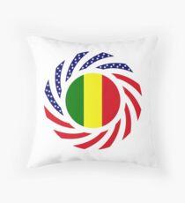 Mali American Multinational Patriot Flag Series Throw Pillow