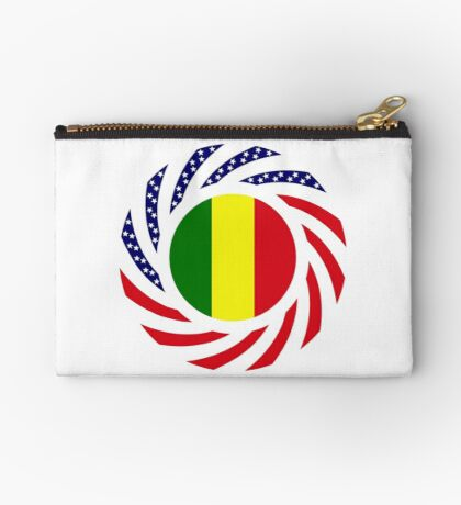 Mali American Multinational Patriot Flag Series Zipper Pouch