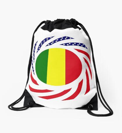 Mali American Multinational Patriot Flag Series Drawstring Bag