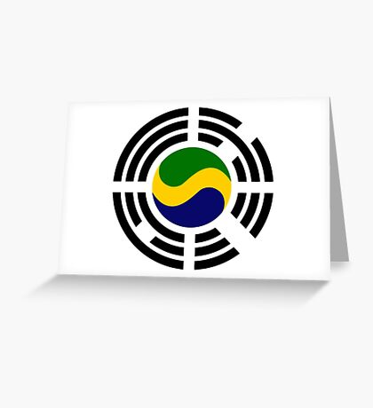 Korean Gabonese Multinational Patriot Flag Series Greeting Card