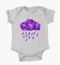 Purple Rain Pattern - Dark version Kids Clothes
