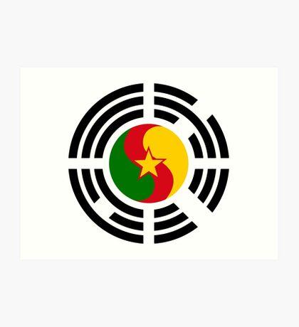 Korean Cameroonian Multinational Patriot Flag Series Art Print