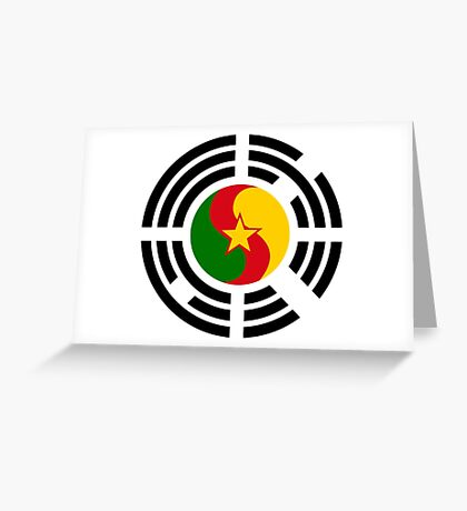 Korean Cameroonian Multinational Patriot Flag Series Greeting Card