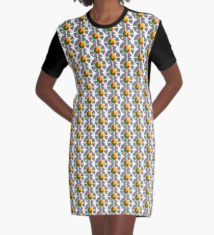 Korean Cameroonian Multinational Patriot Flag Series Graphic T-Shirt Dress