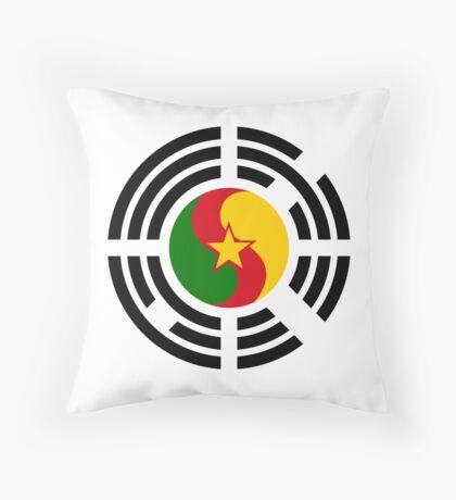 Korean Cameroonian Multinational Patriot Flag Series Throw Pillow