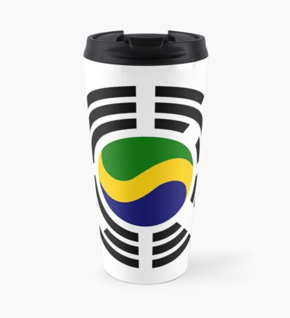Korean Gabonese Multinational Patriot Flag Series Travel Mug