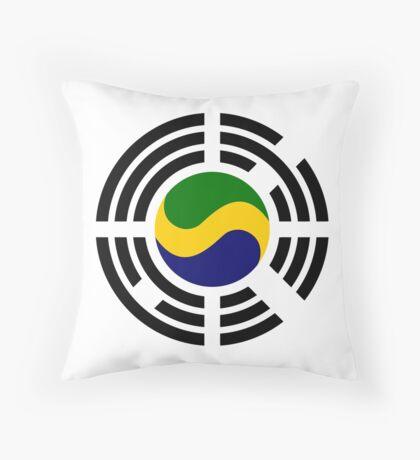 Korean Gabonese Multinational Patriot Flag Series Throw Pillow
