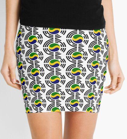 Korean Gabonese Multinational Patriot Flag Series Mini Skirt