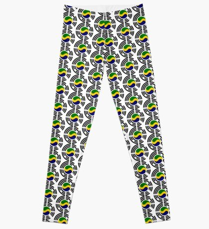 Korean Gabonese Multinational Patriot Flag Series Leggings