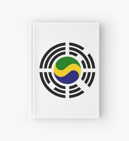 Korean Gabonese Multinational Patriot Flag Series Hardcover Journal
