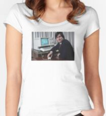 Steve Jobs and the Lisa Women's Fitted Scoop T-Shirt