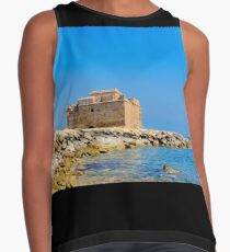 Paphos Castle by Sea Contrast Tank
