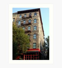 Friends Apartment Building New York NYC Art Print