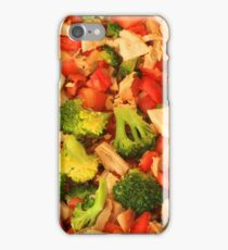 Broccoli Peppers and Chicken iPhone Case/Skin