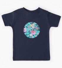 Pretty Pastel Hawaiian Hibiscus Print Kids Clothes