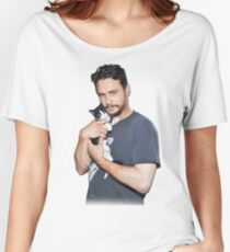 James Franco's Cat Women's Relaxed Fit T-Shirt