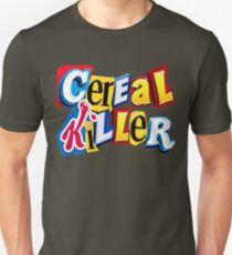 Cereal Killer Ransom Note Slim Fit T-Shirt
