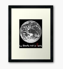 Le Monde de La Haine Framed Print