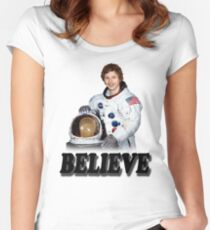 Michael Cera Believes in You Women's Fitted Scoop T-Shirt