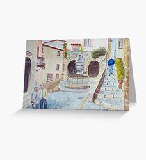 St Paul de Vence by John Rees Greeting Card