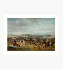 ADAM, ALBRECHT (Nördlingen  Munich) The Combat of Pápa on 12 June  Art Print