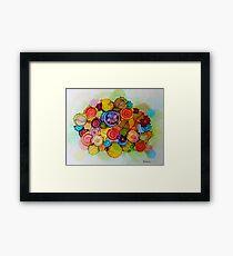 """Lucious"" - Colorful Unique Original Floral Design! Framed Print"
