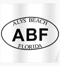 ALYS BEACH FLORIDA EURO OVAL Poster
