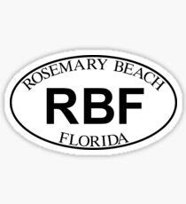ROSEMARY BEACH FLORIDA EURO OVAL Sticker