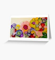 """In Full Bloom"" - Colorful Unique Original Artist's Floral Design! Greeting Card"