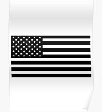 usa black and white Poster