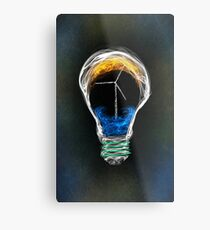 Power of Energy Light Bulb  Metal Print