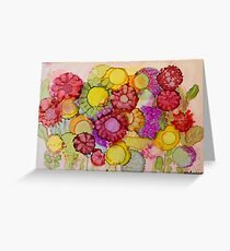 """""""Late Summer Blooms"""" - Colorful Unique Original Floral Painting! Greeting Card"""