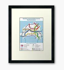 Azeroth - Northrend Routemap Framed Print