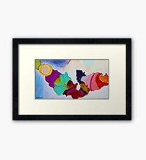 Colorful Unique Original Artist's abstract Design! Framed Print
