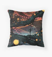 Flat Tire In Oblivion Throw Pillow