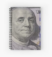 Franklin portrait on banknote Spiral Notebook