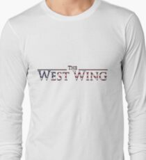 The West Wing Logo with American Flag Design Long Sleeve T-Shirt
