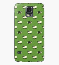 Come Bye - Tri-color dog and black sheep Case/Skin for Samsung Galaxy
