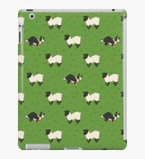 Come Bye - Tri-color dog and black sheep iPad Case/Skin
