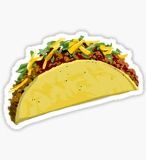 Hard shelled taco Sticker