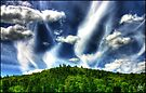 Cacophony of Clouds Over Hobart Hill by Wayne King