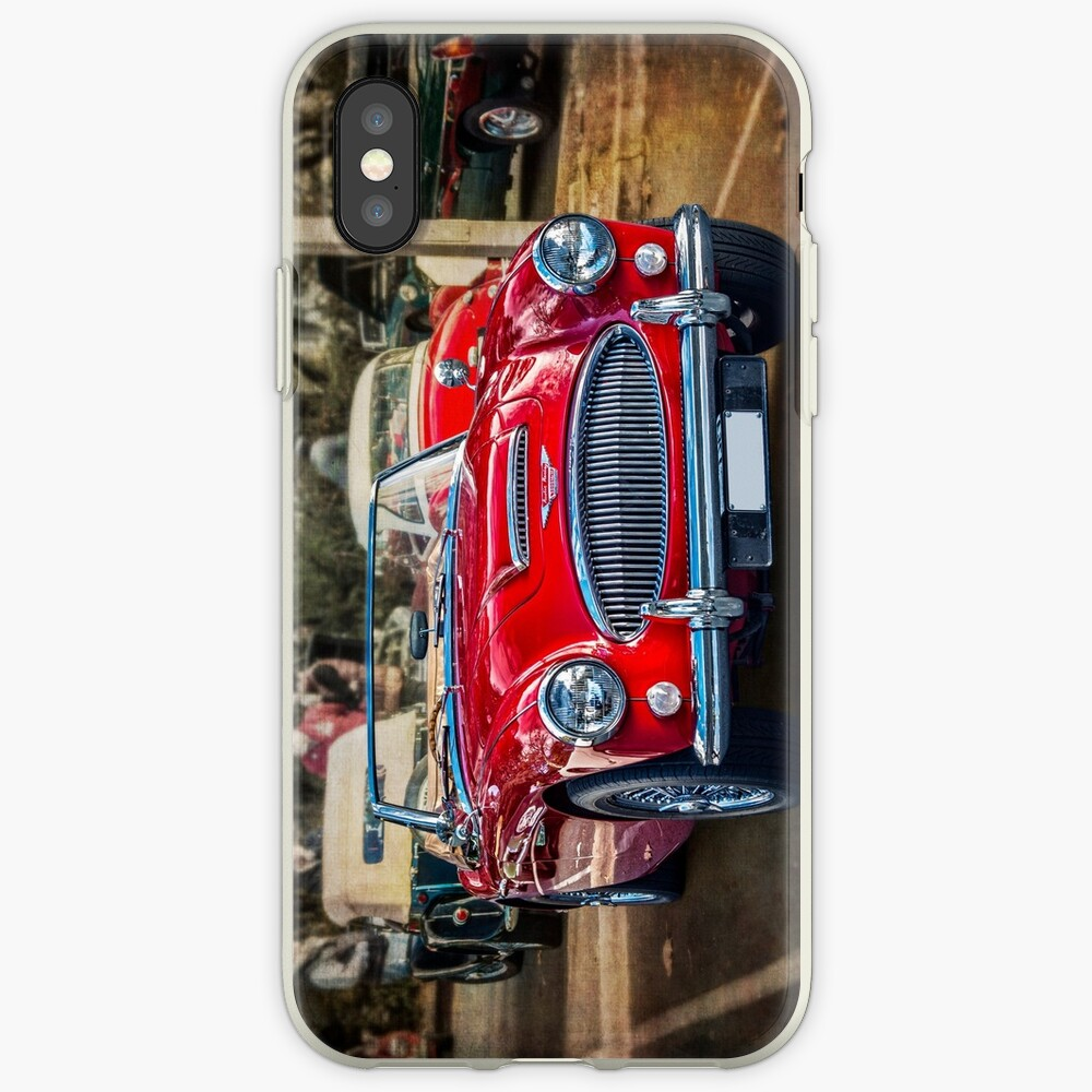 Red Austin Healey 3000 MkIII iPhone Cases & Covers