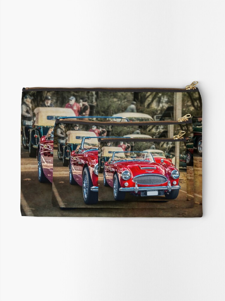 Alternate view of Red Austin Healey 3000 MkIII Zipper Pouch